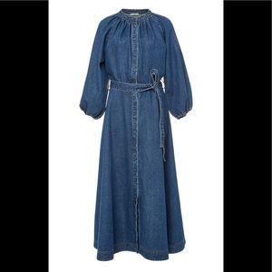NWOT.  CO Denim Midi Dress